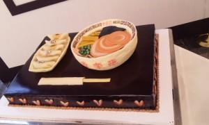 ラーメンのウエディングケーキ